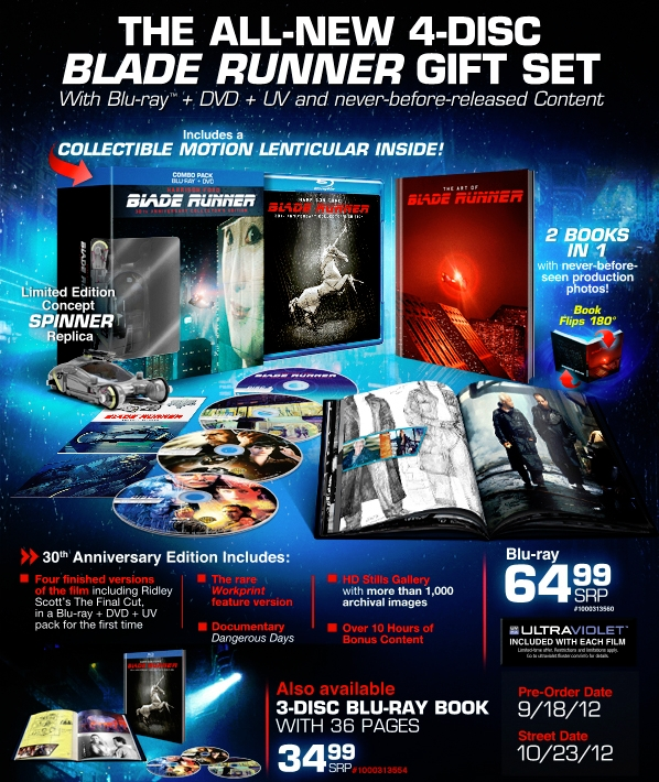 Blade Runner 2012 USA Press Sheet